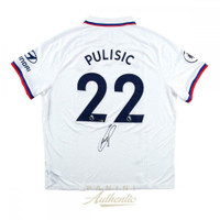 CHRISTIAN PULISIC Autographed Chelsea FC White Jersey PANINI