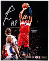 "RUI HACHIMURA Autographed Washington Wizards ""Jumper"" 16"" x 20"" Photograph PANINI LE 88"