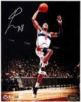 "RUI HACHIMURA Autographed Washington Wizards ""Rise"" 16"" x 20"" Photograph PANINI LE 88"