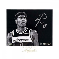 "RUI HACHIMURA Autographed Washington Wizards ""Focus"" 16"" x 20"" Photograph PANINI LE 88"