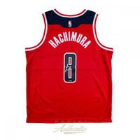 RUI HACHIMURA Autographed Washington Wizards Red Nike Jersey PANINI