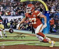 "TRAVIS KELCE Autographed Kansas City Chiefs Super Bowl LIV 16"" x 20"" Photograph FANATICS"