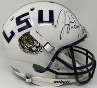 "JOE BURROW Autographed ""19 Champs"" LSU Tigers Schutt Full Size Helmet FANATICS"