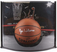 "ZION WILLIAMSON New Orleans Pelicans Autographed ""NBA Debut Curve Display"" Basketball FANATICS LE 10"