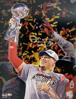 PATRICK MAHOMES Autographed Kansas City Chiefs SB LIV Champions 16 x 20 Trophy Photo FANATICS