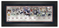 "TOM BRADY New England Patriots Legacy Career 10"" x 30"" Framed Timeline Collage"