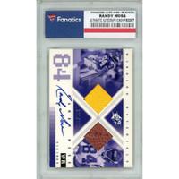 RANDY MOSS Autographed Minnesota Vikings/2000 UD SPX Trading Card FANATICS