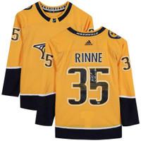 "PEKKA RINNE Autographed Nashville Predators ""1st NHL Goal"" Authentic Jersey FANATICS"