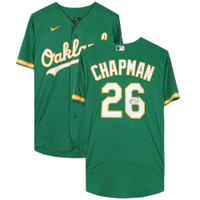 MATT CHAPMAN Autographed Oakland Athletics Authentic Green Jersey FANATICS