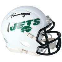 SAM DARNOLD Autographed New York Jets White Matte Mini Helmet FANATICS
