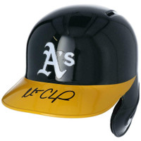 MATT CHAPMAN Autographed Oakland Athletics Batting Helmet FANATICS