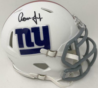 AARON JUDGE Autographed New York Giants White Matte Mini Helmet FANATICS