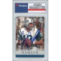JOE NAMATH Autographed New York Jets 2000 Upper Deck Legends #12 Card FANATICS