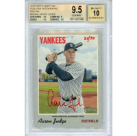 AARON JUDGE Autographed New York Yankees Topps Heritage ROA Card BECKETT 10