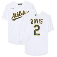 KHRIS DAVIS Autographed Oakland Athletics White Nike Jersey FANATICS