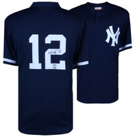 "WADE BOGGS Autographed and Inscribed ""HOF 05"" New York Yankees Practice Jersey FANATICS"