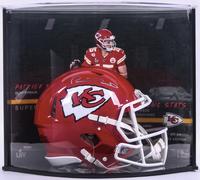PATRICK MAHOMES Signed Super Bowl 54 Speed Helmet Curve Display FANATICS LE 54