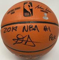 DEANDRE AYTON Phoenix Suns Autographed 2018 NBA #1 Pick Basketball GDL LE 18/22