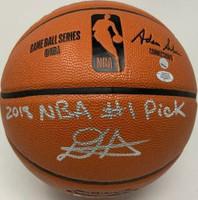 "DEANDRE AYTON Autographed (Silver) ""2018 NBA #1 Pick"" Basketball GDL LE 18/22"