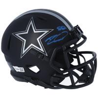 CEEDEE LAMB Autographed Dallas Cowboys Eclipse Speed Mini Helmet FANATICS