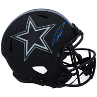 CEEDEE LAMB Autographed Dallas Cowboys Eclipse Full Size Speed Helmet FANATICS