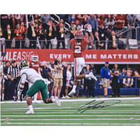 "CEEDEE LAMB Autographed Oklahoma Sooners ""Leaping Catch"" 16"" x 20"" Photograph FANATICS"