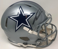 CEEDEE LAMB Autographed Dallas Cowboys Authentic Speed Helmet FANATICS