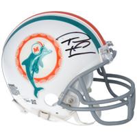 TUA TAGOVAILOA Autographed Miami Dolphins Throwback Mini Helmet FANATICS