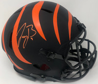 JOE BURROW Autographed Cincinnati Bengals Eclipse Authentic Helmet FANATICS