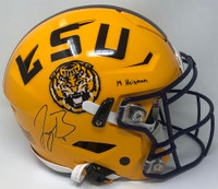"JOE BURROW Autographed ""19 Heisman"" LSU Tigers Speed Flex Authentic Helmet FANATICS"