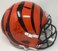 "JOE BURROW Autographed ""2020 #1 Pick"" Cincinnati Bengals Speed Full Size Helmet FANATICS"