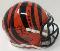 "JOE BURROW Autographed ""2020 #1 Pick"" Cincinnati Bengals Speed Mini Helmet FANATICS"