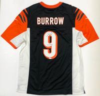"JOE BURROW Autographed ""2020 #1 Pick"" Cincinnati Bengals Black Nike Jersey FANATICS"