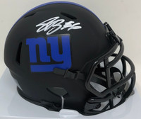 SAQUON BARKLEY Autographed New York Giants Eclipse Mini Speed Helmet FANATICS