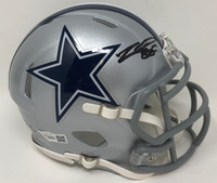 CEEDEE LAMB Autographed Dallas Cowboys Speed Mini Helmet FANATICS