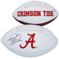 TUA TAGOVAILOA Autographed Alabama Crimson Tide White Panel Football FANATICS