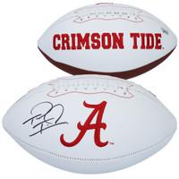 TUA TAGOVAILOA Autographed Alabama Crimson Tide White Panel Football FANATICS