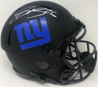 SAQUON BARKLEY Autographed New York Giants Eclipse Full Size Speed Helmet FANATICS