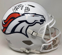 PEYTON MANNING Signed 5x NFL MVP White Matte Denver Broncos Helmet FANATICS LE 1/18