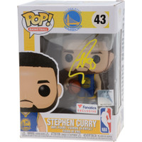 STEPHEN CURRY Autographed Warriors Funko Pop Figurine FANATICS LE 100