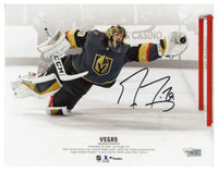 "MARC-ANDRE FLEURY Autographed Vegas Golden Knights ""Diving Save"" 8"" x 10"" Photograph FANATICS"