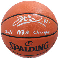 "DIRK NOWITZKI Autographed Dallas Mavericks ""2011 NBA Champs"" Basketball FANATICS"