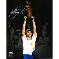 "DIRK NOWITZKI Autographed Dallas Mavericks 11"" x 14"" NBA Finals Photograph FANATICS"