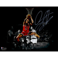 "DENNIS RODMAN Autographed Chicago Bulls ""Rebound"" 11"" x 14"" Spotlight Photo FANATICS"