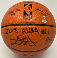 DEANDRE AYTON Phoenix Suns Autographed 2018 NBA #1 Pick Basketball GDL LE 1/22
