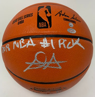 "DEANDRE AYTON Autographed (Silver) and Inscribed ""2018 NBA #1 Pick"" Phoenix Suns Basketball GDL LE 1/22"