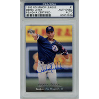 DEREK JETER Autographed New York Yankees 1995 Minor League RC #1 UD Card PSA/DNA