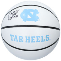 COBY WHITE Autographed North Carolina Tarheels Logo Spalding Basketball FANATICS