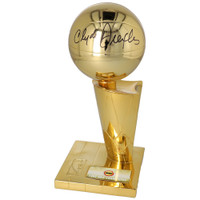 CLYDE DREXLER Autographed Houston Rockets 1995 Finals Replica Trophy FANATICS