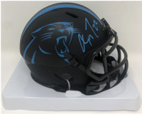 CHRISTIAN McCAFFREY Autographed Carolina Panthers Eclipse Mini Helmet FANATICS